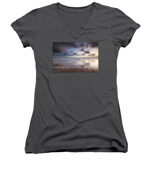 Psalm 19 1 Women's V-Neck (Athletic Fit)