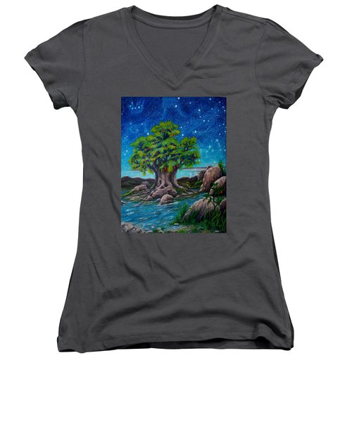 Psalm One Women's V-Neck (Athletic Fit)