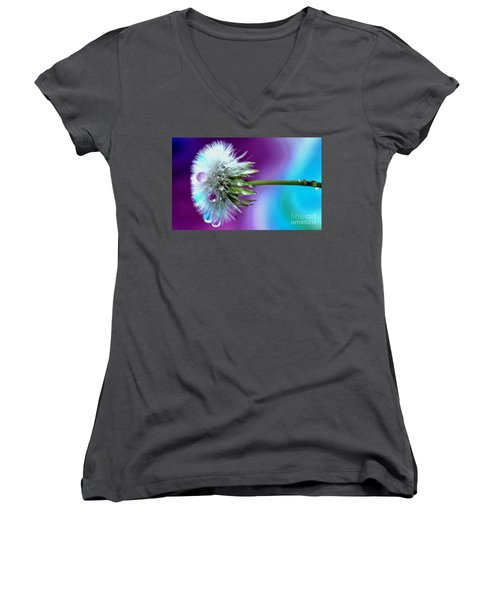 Psychedelic Daydream Women's V-Neck (Athletic Fit)