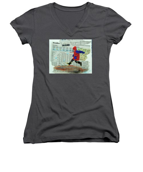 Puddle Jumping Women's V-Neck (Athletic Fit)