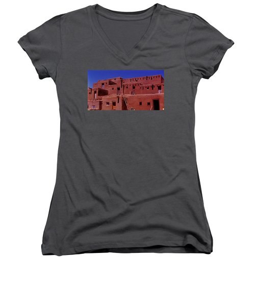 Pueblo Living Women's V-Neck (Athletic Fit)