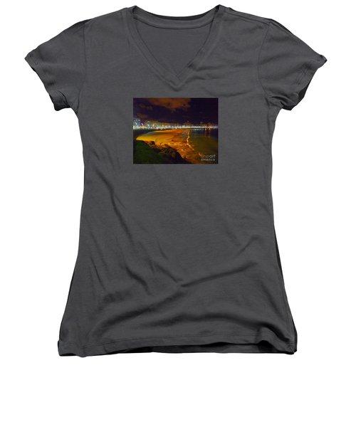 Puerto Rico Beach Women's V-Neck T-Shirt