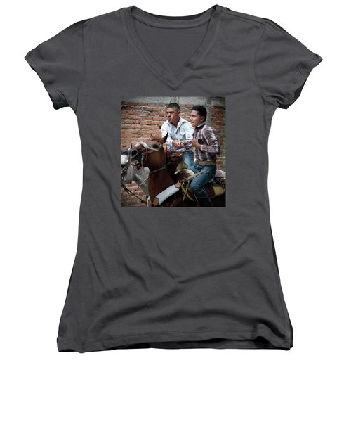 Pull Me If You Can Women's V-Neck