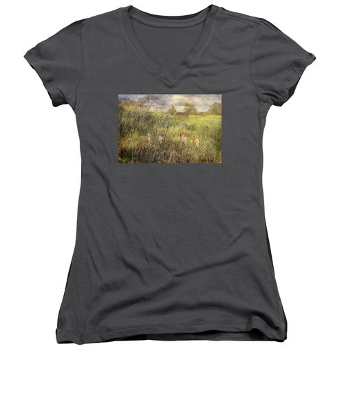Cat O Nine Tails Going To Seed Women's V-Neck