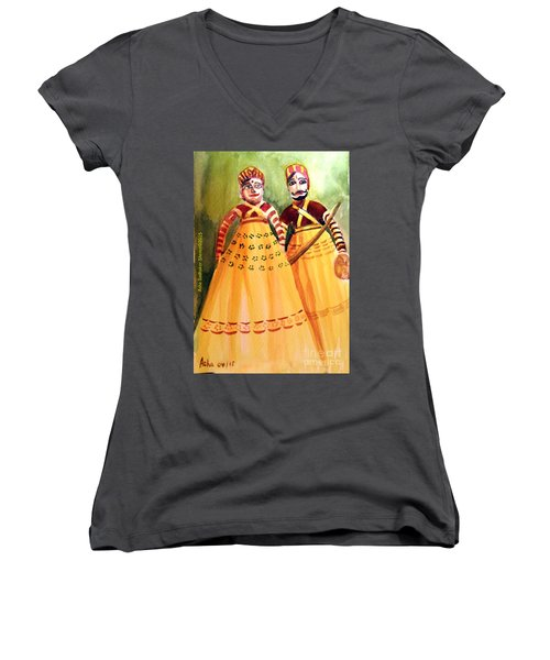 Puppets Of India Women's V-Neck