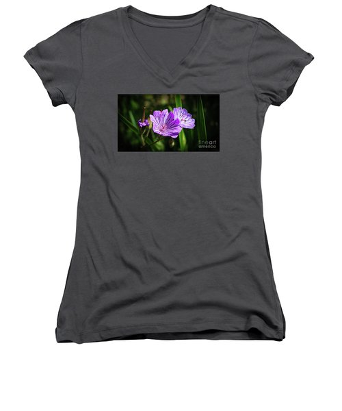 Purple Attraction Women's V-Neck (Athletic Fit)