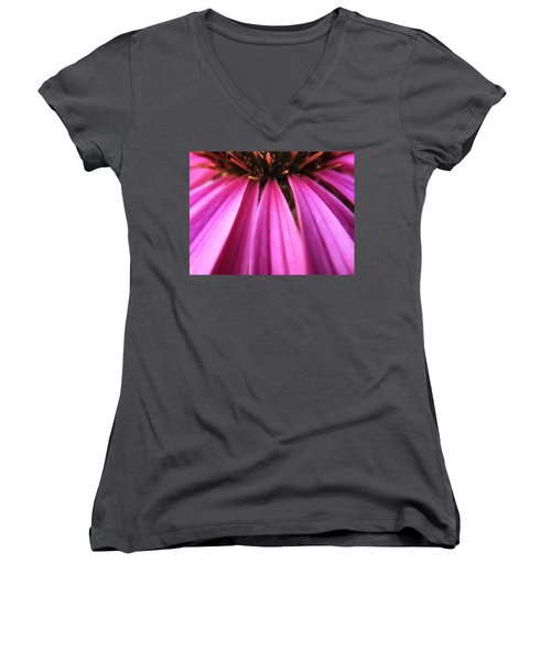 Women's V-Neck T-Shirt (Junior Cut) featuring the photograph Purple Beauty by Eduard Moldoveanu