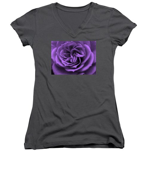 Purple Bliss Women's V-Neck (Athletic Fit)