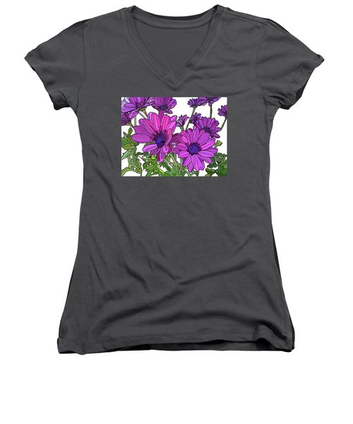 Purple Days Women's V-Neck T-Shirt (Junior Cut) by Jamie Downs
