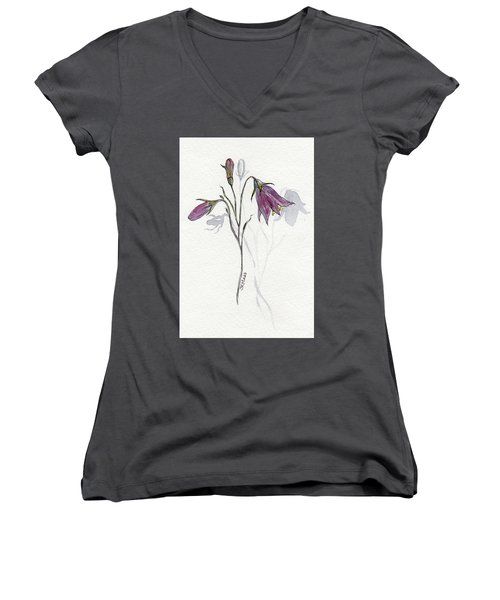 Purple Harebell Women's V-Neck (Athletic Fit)