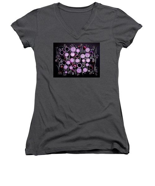 Purple Onion Patterns Women's V-Neck