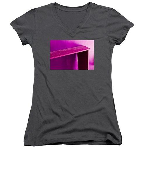 Purple Passion Women's V-Neck T-Shirt (Junior Cut) by Prakash Ghai