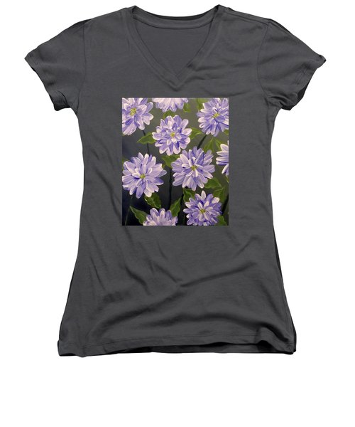 Purple Passion Women's V-Neck T-Shirt (Junior Cut) by Teresa Wing
