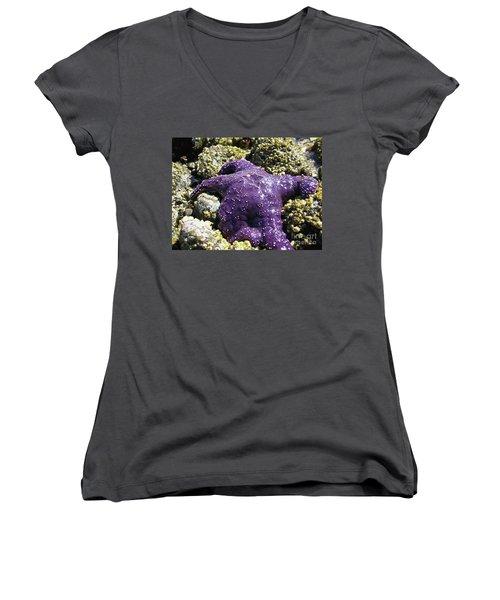 Purple Star Fish Women's V-Neck