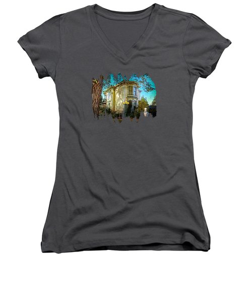 House With The Purple Swing Women's V-Neck (Athletic Fit)
