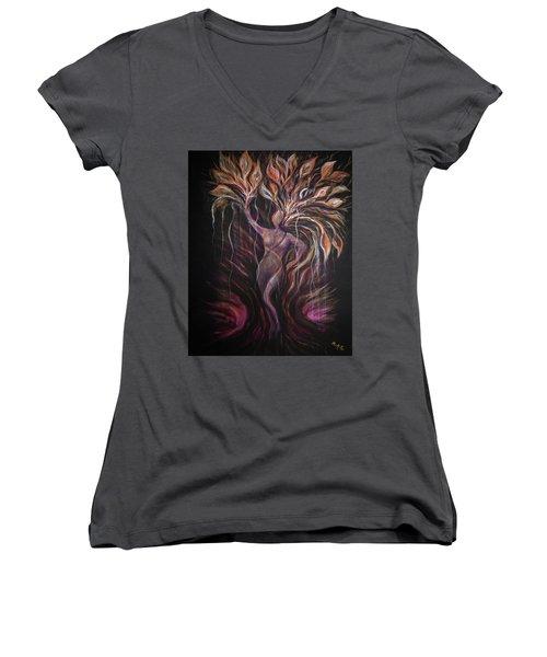 Purple Tree Goddess Women's V-Neck