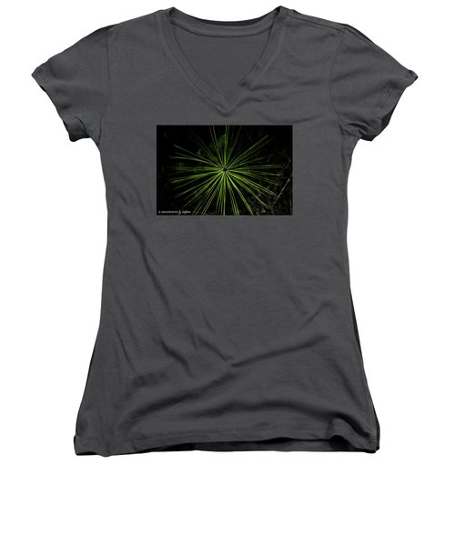 Pyrotechnics Or Pine Needles Women's V-Neck (Athletic Fit)