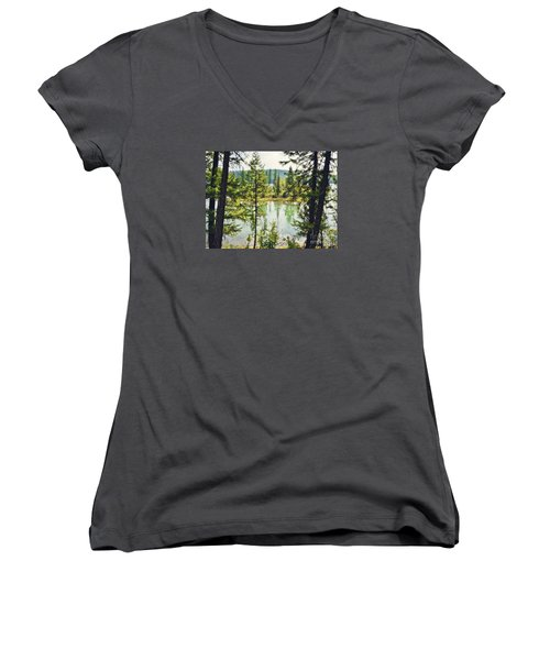 Women's V-Neck T-Shirt (Junior Cut) featuring the photograph Quaint by Janie Johnson