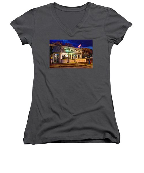 Quaker Steak And Lube Women's V-Neck (Athletic Fit)