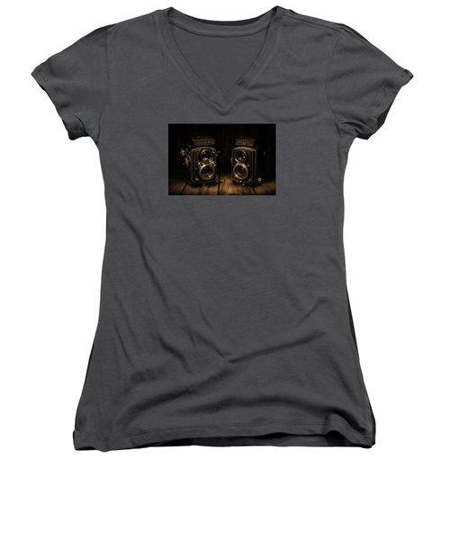 Quality Women's V-Neck T-Shirt (Junior Cut) by Keith Hawley