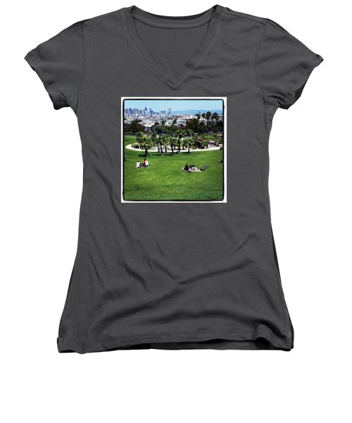 Women's V-Neck featuring the photograph Quiet At #doloresgaybeach by Mr Photojimsf