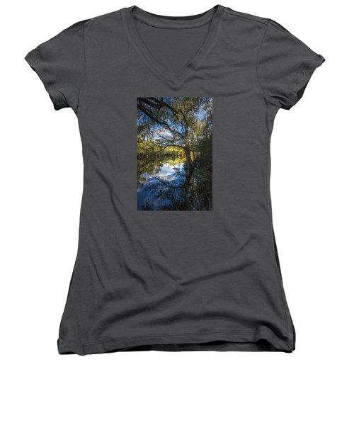 Quiet Embrace Women's V-Neck T-Shirt