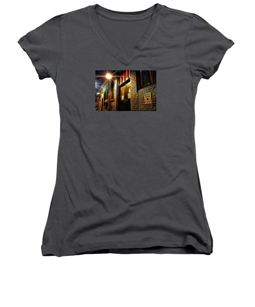Quiet Zone Women's V-Neck T-Shirt (Junior Cut) by Jessica Brawley