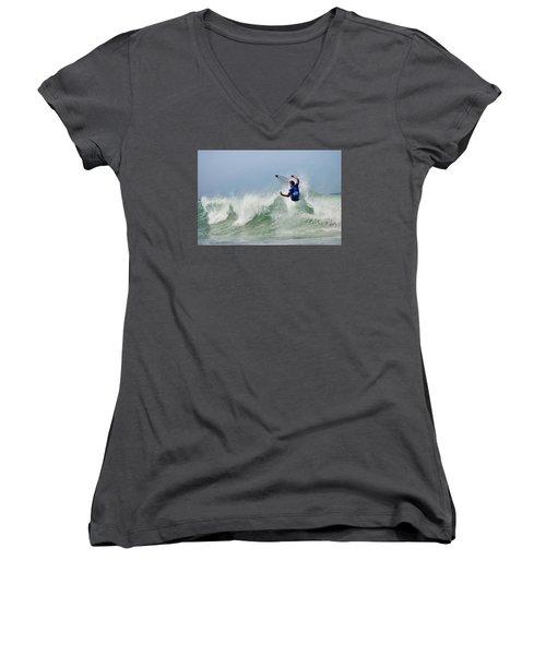Quiksilver Pro France I Women's V-Neck T-Shirt