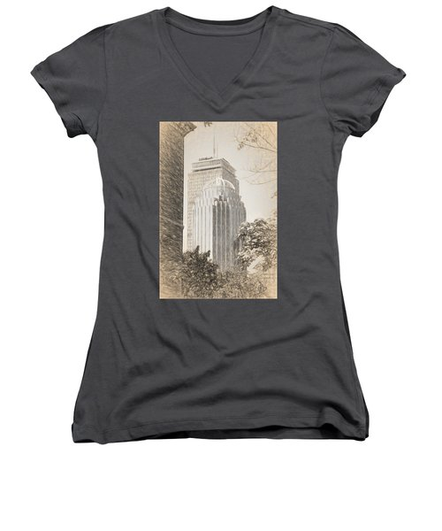 R2d2 Building And The Prudential Center Women's V-Neck (Athletic Fit)