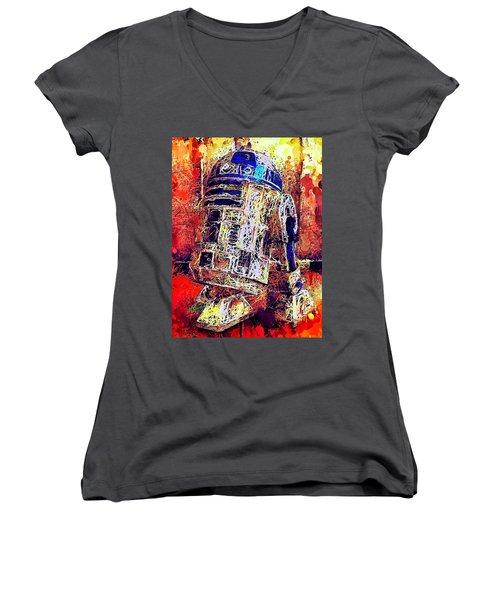 R2 - D2 Women's V-Neck