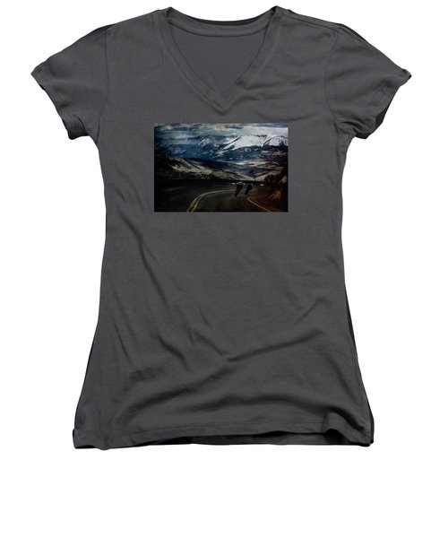 Race To The Finish Women's V-Neck