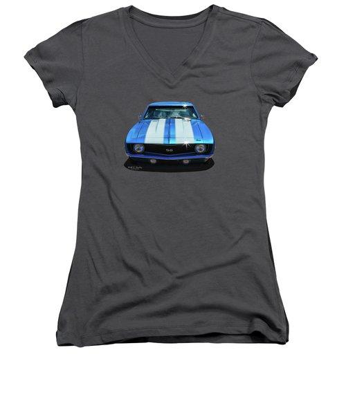 Racing Stripes Women's V-Neck T-Shirt