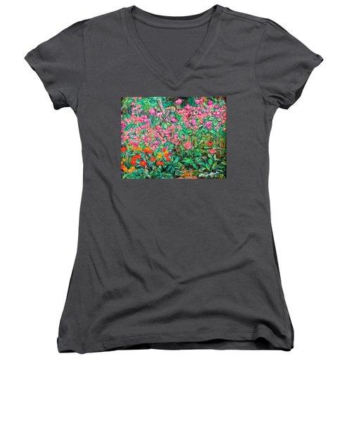 Radford Flower Garden Women's V-Neck