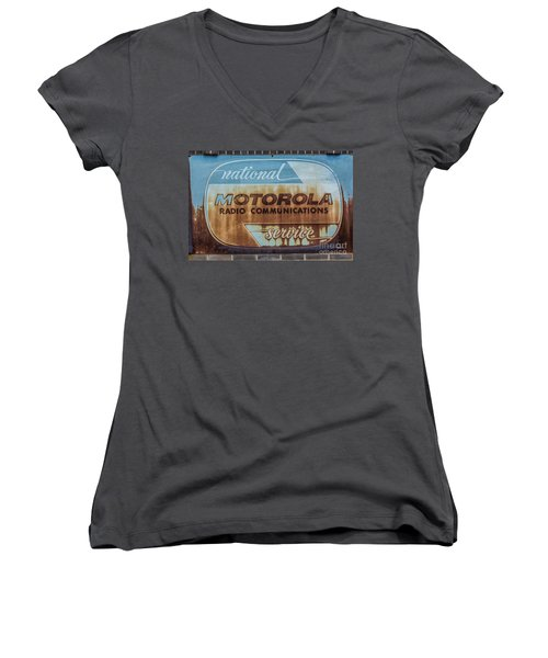 Radio Communications Women's V-Neck (Athletic Fit)