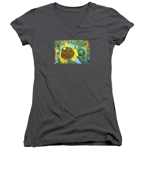 Rag A Muffin Painting Women's V-Neck T-Shirt