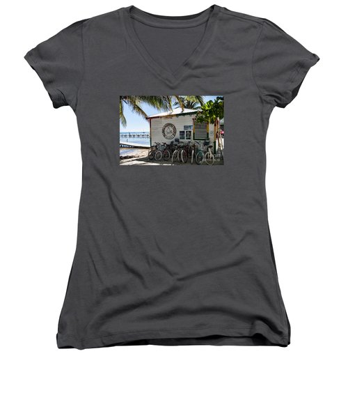 Women's V-Neck T-Shirt (Junior Cut) featuring the photograph Raggamuffin by Lawrence Burry