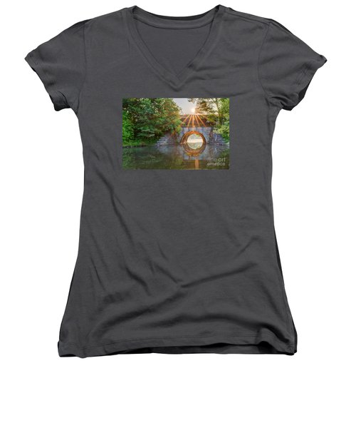 Railroad Bridge Women's V-Neck T-Shirt