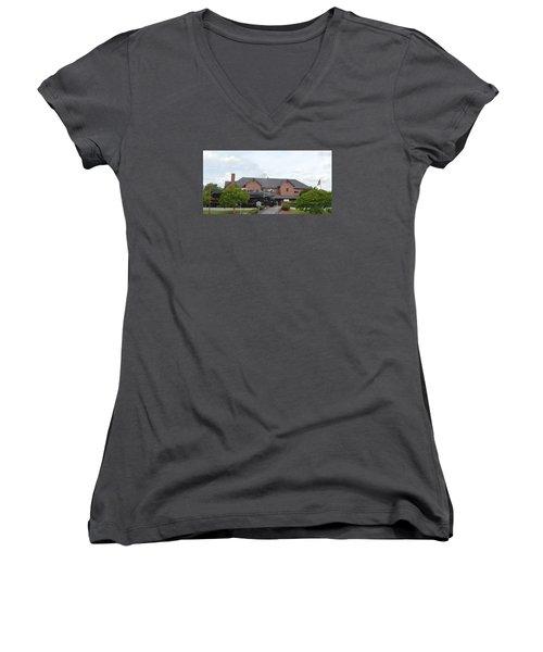 Railroad Depot Women's V-Neck (Athletic Fit)