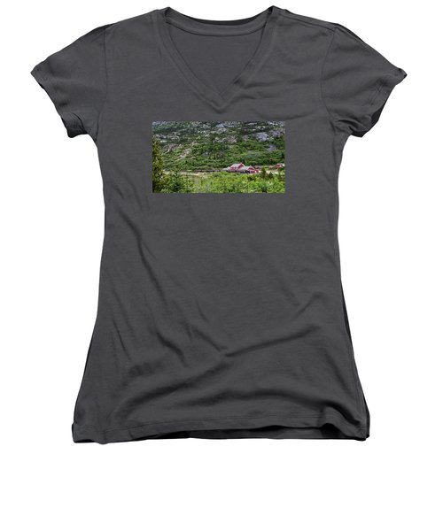 Railroad To The Yukon Women's V-Neck (Athletic Fit)