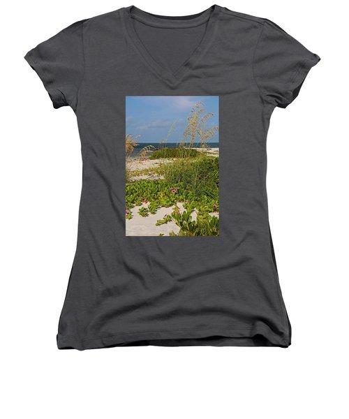 Railroad Vines On Boca Iv Women's V-Neck T-Shirt