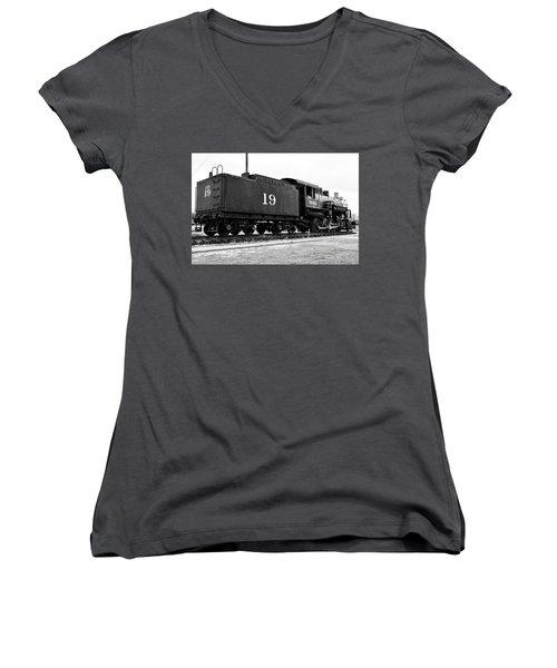 Railway Engine In Frisco Women's V-Neck