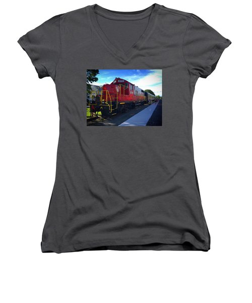 Blue Ridge Railway Women's V-Neck
