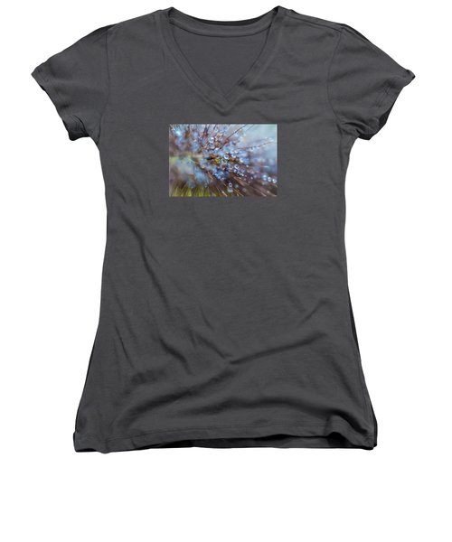 Rain Drops - 9751 Women's V-Neck T-Shirt