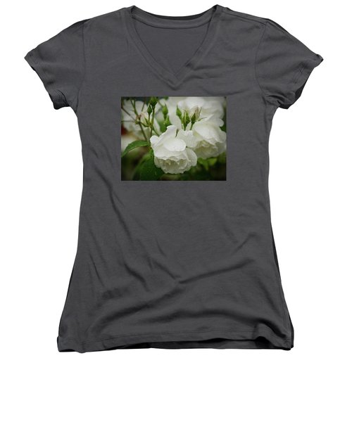Rain Drops In Our Garden Women's V-Neck