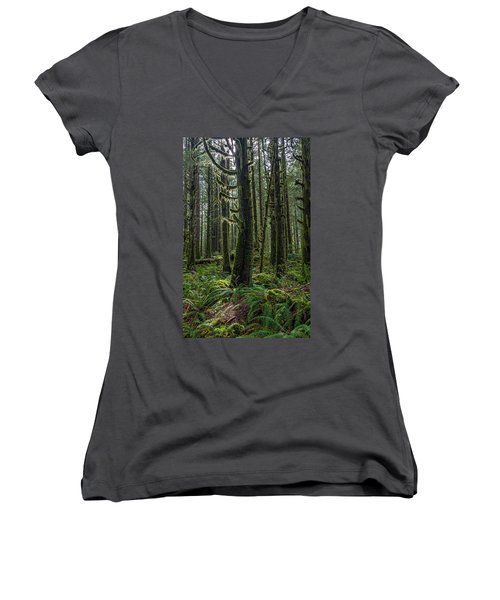 Rain Forest Of Golden Ears Women's V-Neck