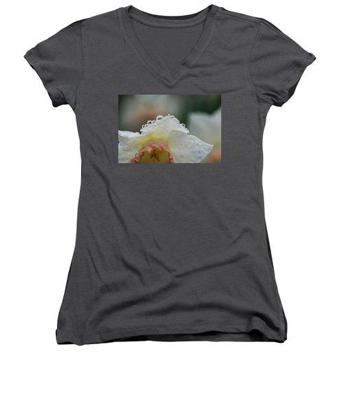 Rain In Daffodils Women's V-Neck