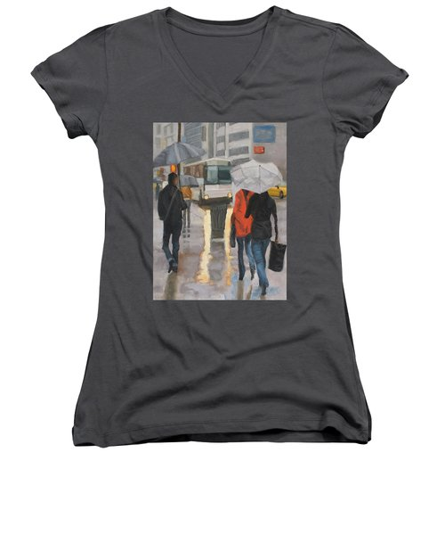 Rain In Midtown Women's V-Neck (Athletic Fit)