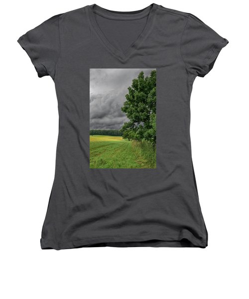 Rain Is Coming Women's V-Neck (Athletic Fit)