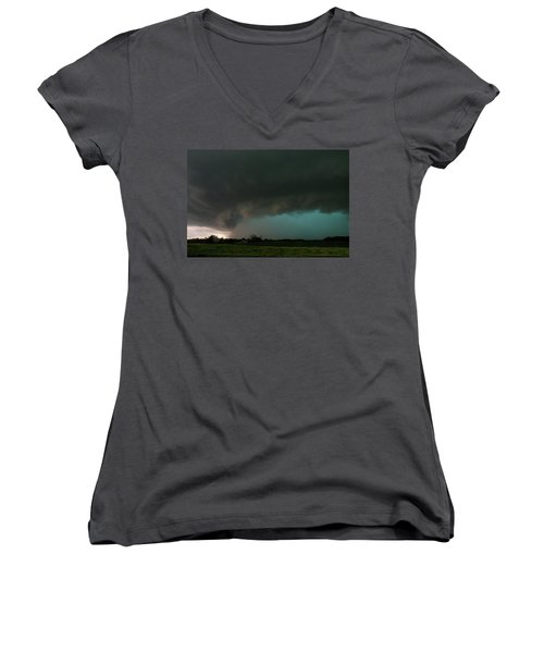 Rain-wrapped Tornado Women's V-Neck (Athletic Fit)