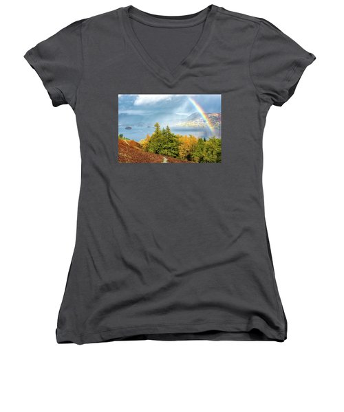 Rainbow Gold Women's V-Neck